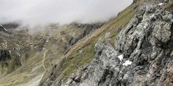 Alter Höhenweg zwischen Gollingscharte und Trockenbrotscharte (03.10.2015)
