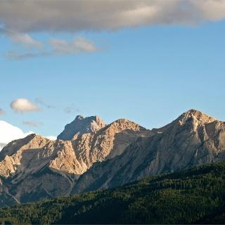 Blick zu den Dolomiten