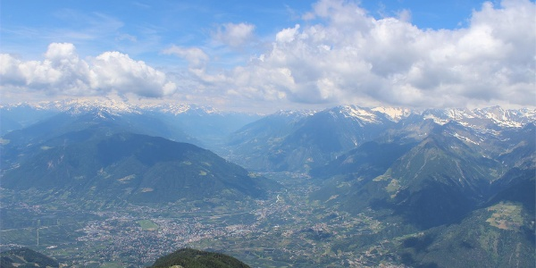 Panoramic view on Merano