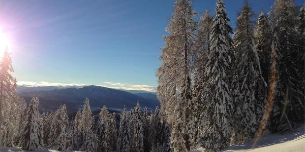 Winter landscape at Deutschnonsberg - Alta Val di Non