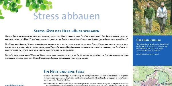 VitalWanderWelt Wanderweg nördlicher Sachsenring - Stress abbauen