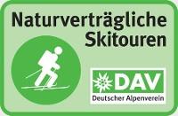 Logo- Skibergsteigen umweltfreundlich