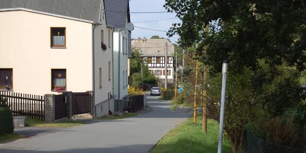 Auf dem Rundwanderweg in Treuen