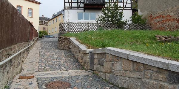 Gasse in Treuen/Vogtland