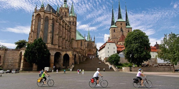 Radfahrer Am Domplatz