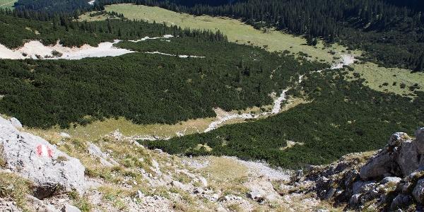 Aufstieg zum Söllerpass von der Puitalm