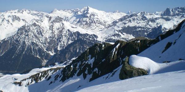 Blick zurück nach dem ersten Aufstieg unterhalb der Omesspitze