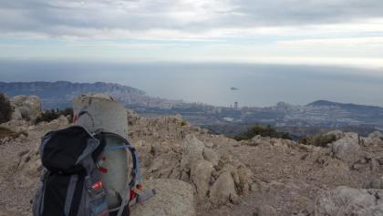 Op de top van de Puig Campana