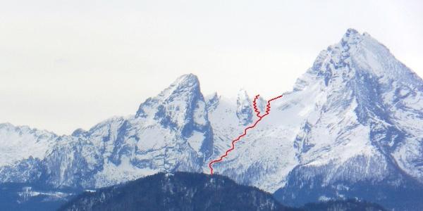 Watzmannkar vom Salzburger Gaisberg gesehen