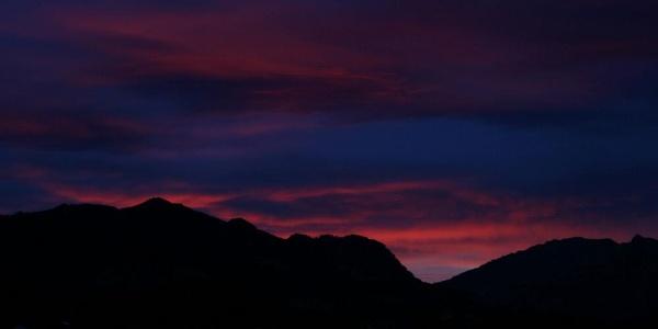 Sonnenaufgang über dem Illertal