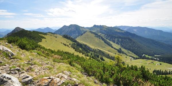 Blick vom Jägerkamp zur Rotwand - dem höchsten Punkt der 3-Tages Tour