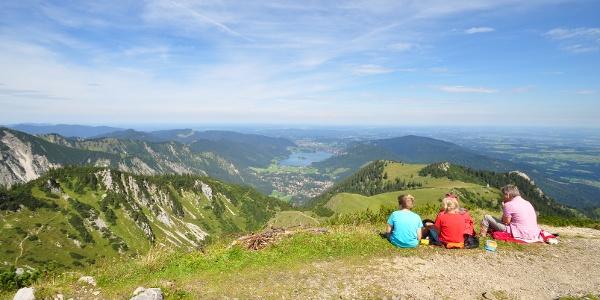Der Jägerkamp oberhalb des Schliersess - Höhepunkt des 1. Tages