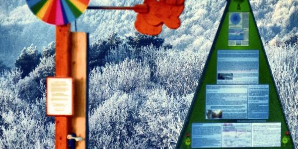 Wetterlehrpfad-Farbscheibe - Hintergrund Stuhleck  (Copyright: Karl Gradwohl)