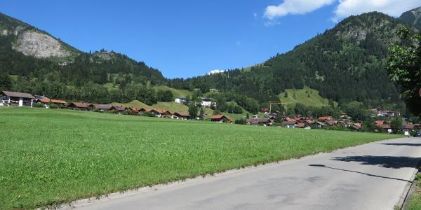 Blick von Hindelang nach Oberjoch