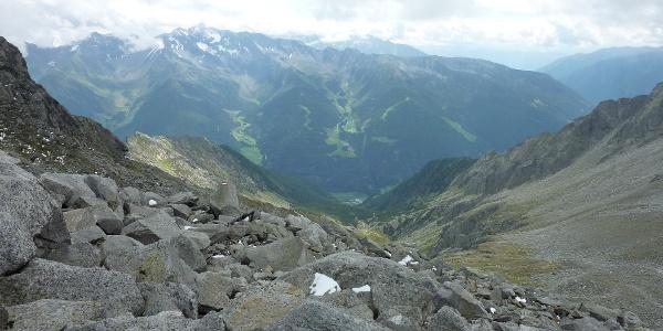 Im Abstieg vom Keilbachjoch