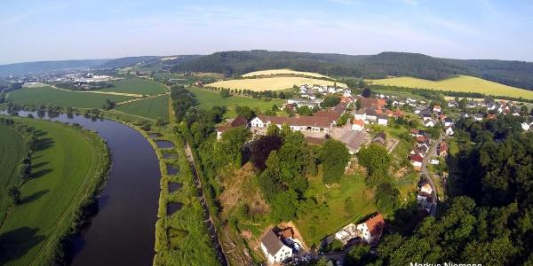 Blick über Blankenau in südlicher Richtung