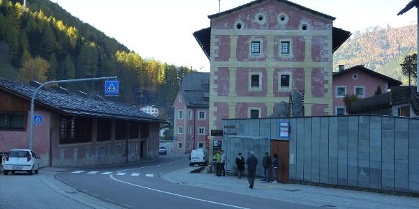 Bushaltestelle in Steinhaus
