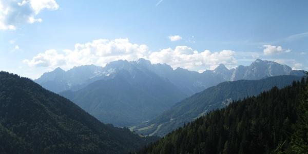 Die Julischen Alpen auf Slowenischer Seite