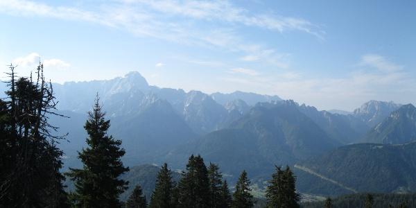 Ein markanter Gipfel der Julischen Alpen, der Mangart, 2677 m.