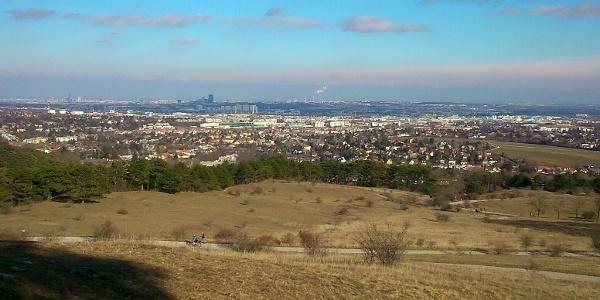 Blick über Wien von der Perchtoldsdorfer Heide