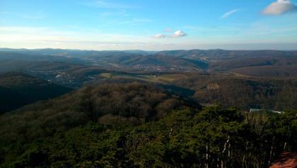 Aussicht von der Josefswarte in den Wienerwald