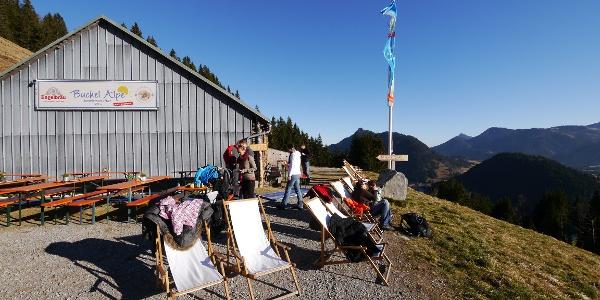 Sonnenbad auf der Buchel Alpe