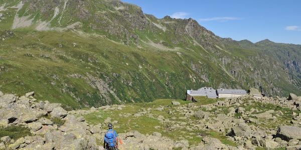 Abstieg zur Tübinger Hütte