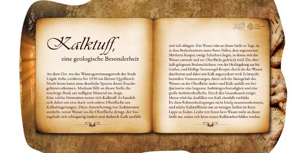 """Buchrücke """"Kalktuff"""""""