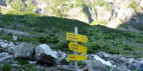 Wegweiser am Floitenbach