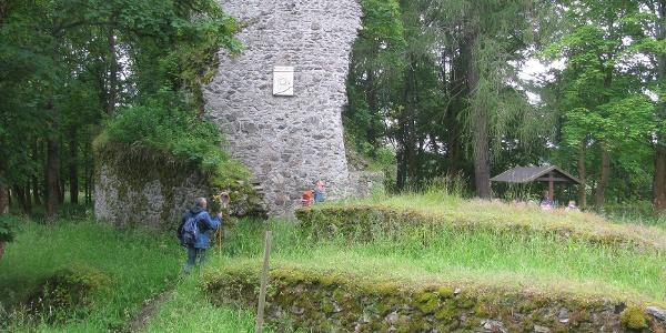 Ruine der Königsburg bei Königshütte