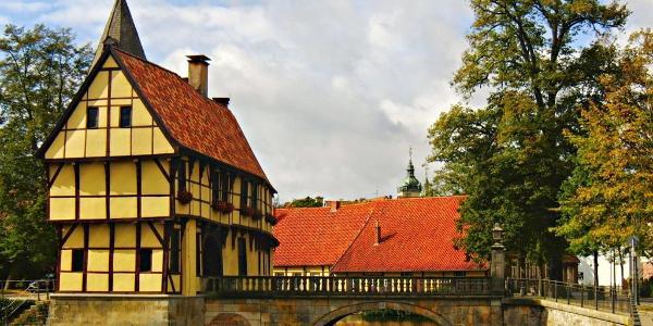 Vorbei an Schloss Steinfurt geht es ebenfalls.