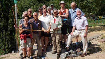 Pilgergruppe in Neustadt