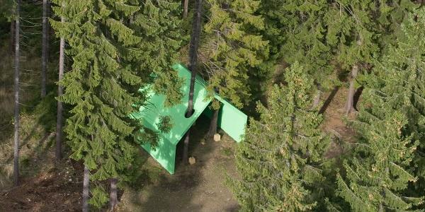 Skulptur: Die Grünstation