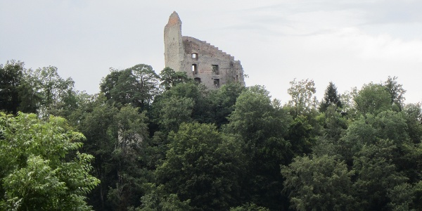 Blick auf die Ruine Altbodman