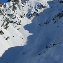 Schneebrett an der Rotbühelspitze