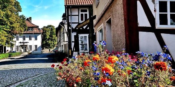 In Hornburg, Blick zum Rathaus