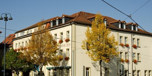 Blick auf das Hotel Schwarzer Bär