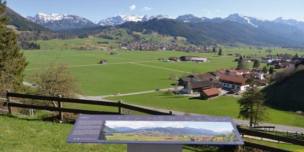 Panoramablick in den Schlosspark