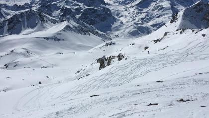 Blick nach Süden nach dem Gipfelhang