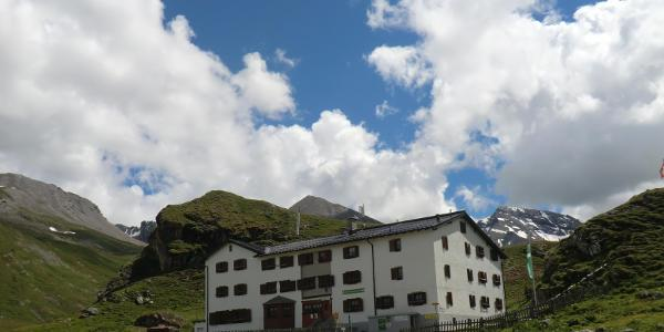 Heidelberger Hütte (2284 m) unser heutiges Etappenziel.