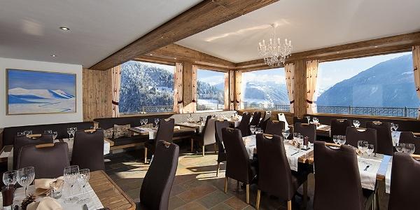 Das herrliche Panorama Restaurant im Schlössli in Seewis