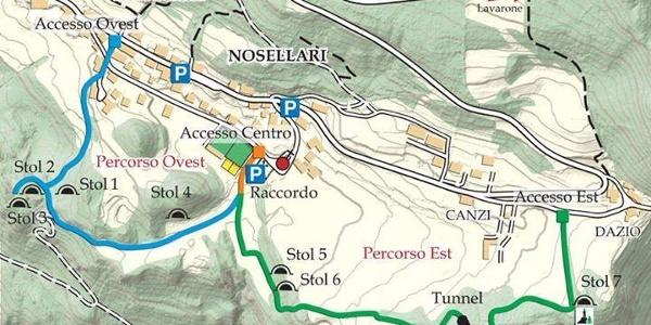 Mappa del Giro delle trincee