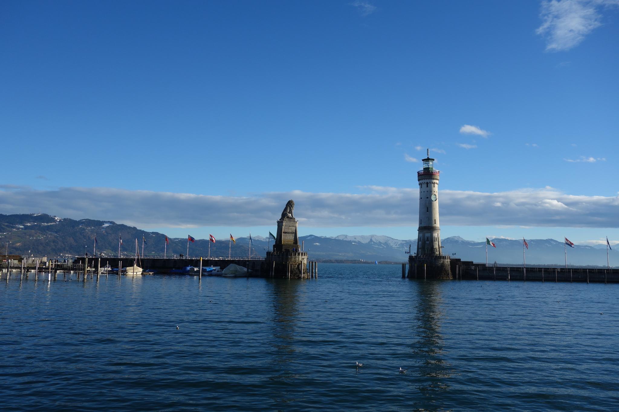 Etappe 4: Im Hafen von Lindau.
