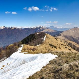 View from Monte Boletto towards Monte Bolettone
