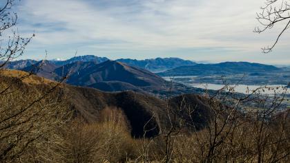 View over Lago di Alserio and Lago di Pusiano
