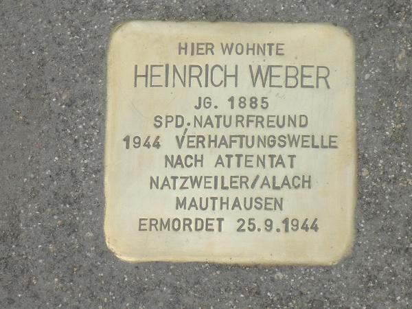 Stolperstein Heinrich Weber