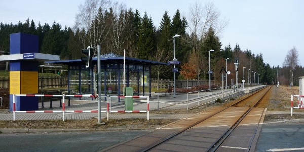 Bahnhaltestelle Floßplatz Muldenberg