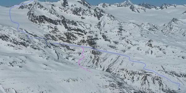 Fluchtkogel from way to Finailspitze