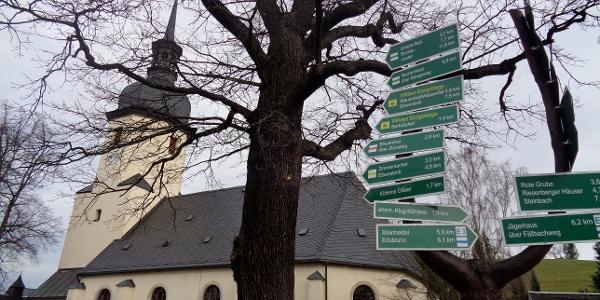 Ortsmitte Sosa mit Kirche
