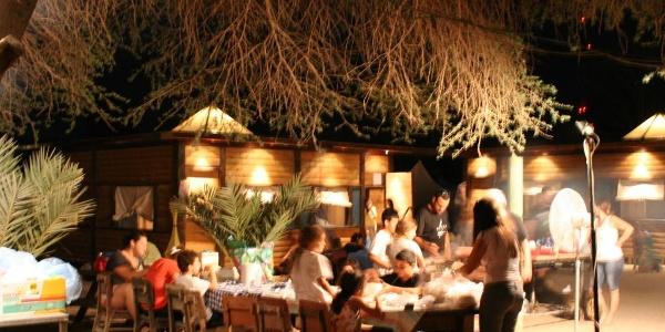 Abendessen unter freiem Himmel